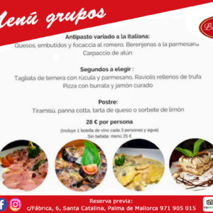 Special menus for groups